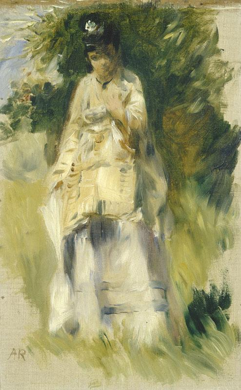 Auguste Renoir - Woman Standing by a Tree