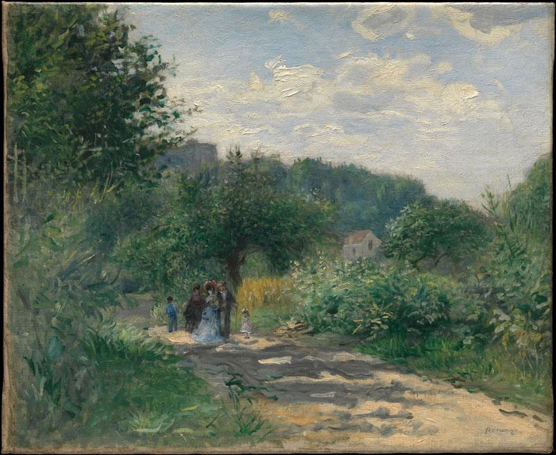 Auguste Renoir -A Road in Louveciennes