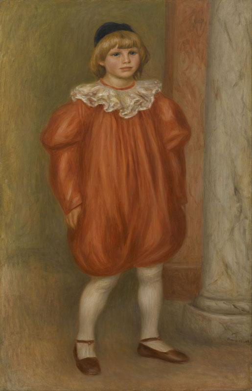 Auguste Renoir -Claude Renoir in Clown Costume