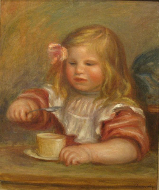 Auguste Renoir -Coco Eating His Soup, 1905