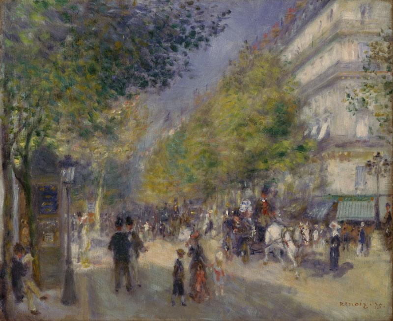 Auguste Renoir -French - The Grands Boulevards