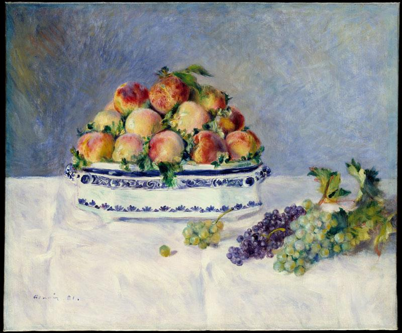 Auguste Renoir -Still Life with Peaches and Grapes