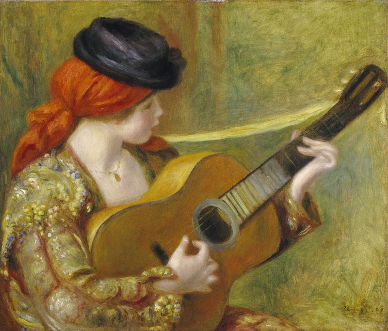 Auguste Renoir -Young Spanish Woman with a Guitar