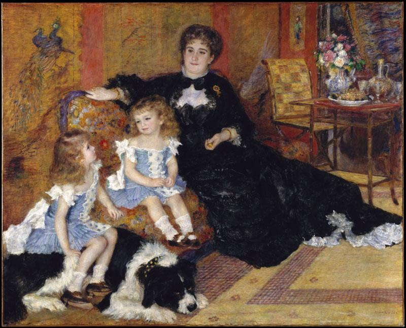 Auguste Renoir--Madame Georges Charpentier and Her Children, Georgette-Berthe  and Paul-Emile-Charles