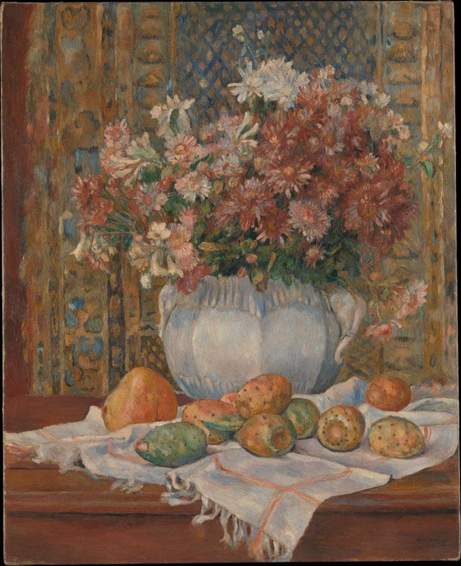Auguste Renoir--Still Life with Flowers and Prickly Pears