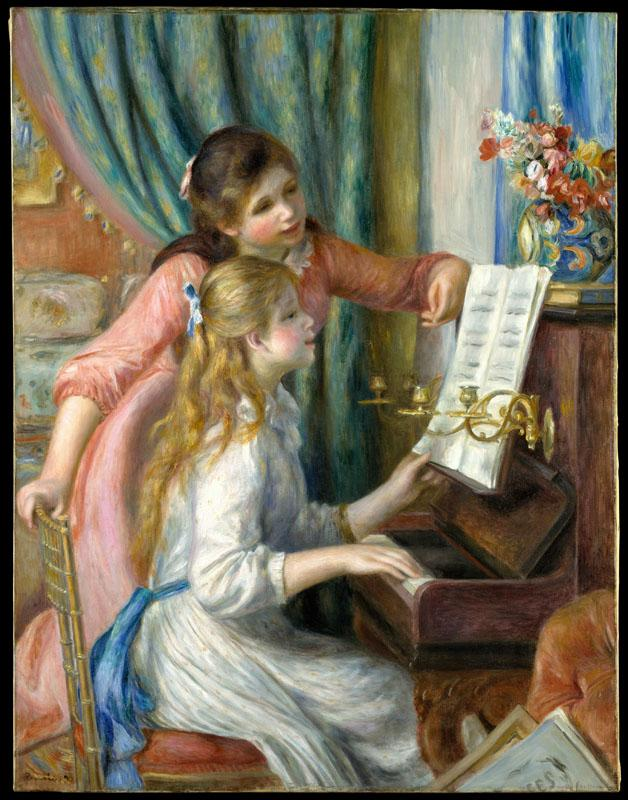 Auguste Renoir--Two Young Girls at the Piano