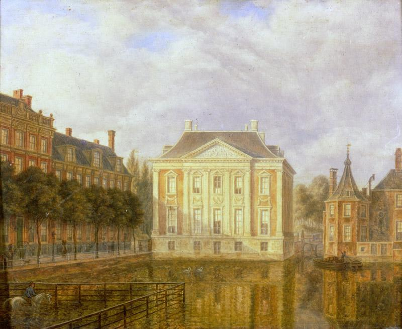 Augustus Wijnantz - View of the Mauritshuis