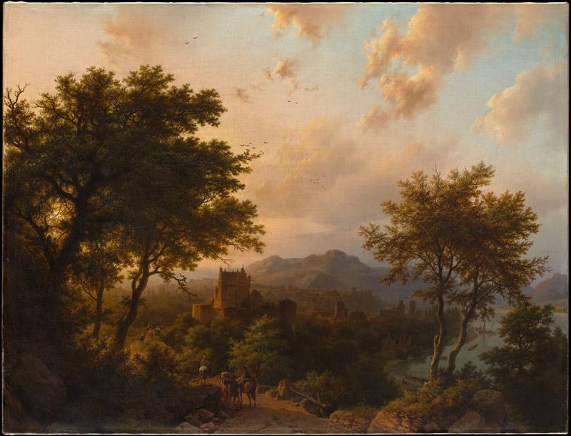 Barend Cornelis Koekkoek--Sunset on the Rhine