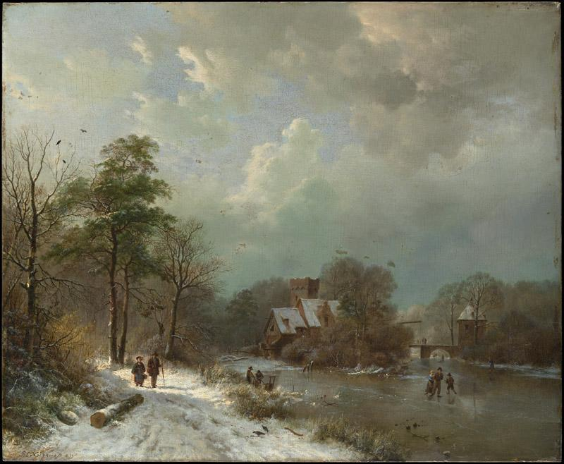 Barend Cornelis Koekkoek--Winter Landscape, Holland