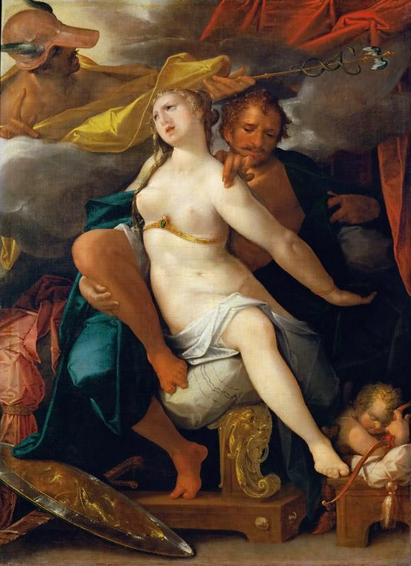 Bartholomaeus Spranger -- Venus and Mars warned by Mercury