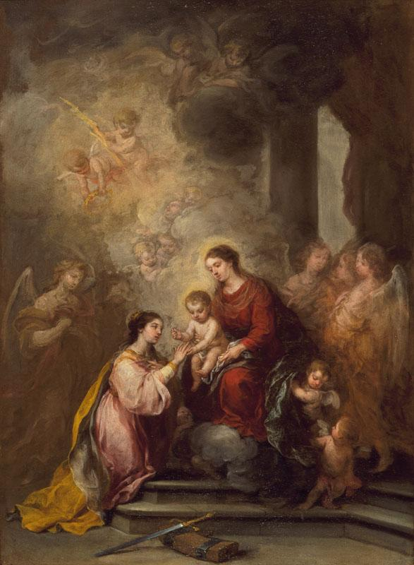 Bartolome Esteban Murillo - The Mystic Marriage of Saint Catherine
