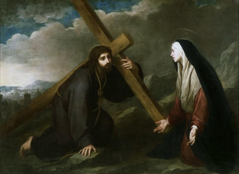 Bartolome Esteban Murillo, Spanish (active Seville), 1618-1682 -- Christ Bearing the Cross