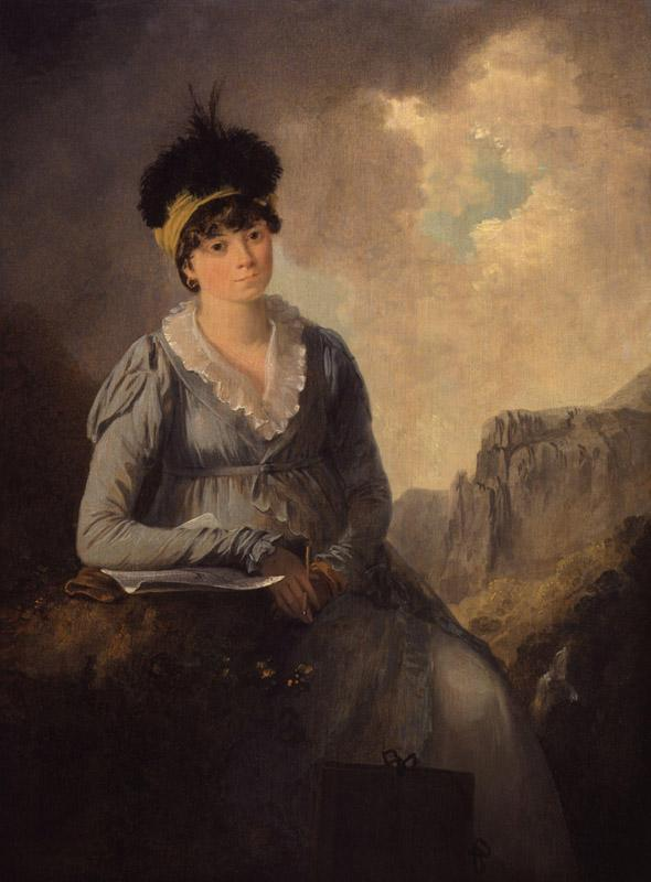 Bella Ibbetson (nee Thompson) by Julius Caesar Ibbetson