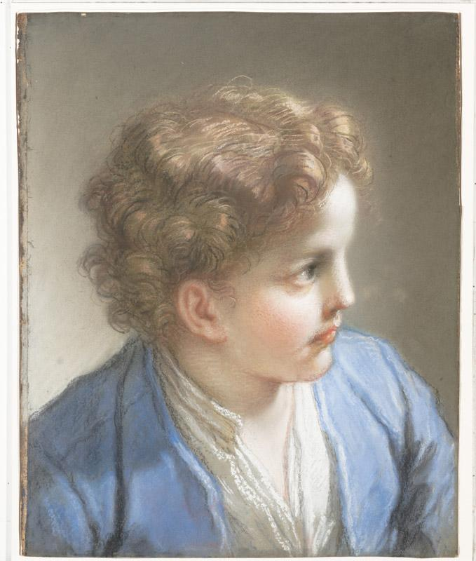 Benedetto Luti--Study of a Boy in a Blue Jacket