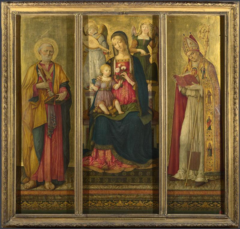 Benvenuto di Giovanni - Altarpiece - The Virgin and Child with Saints