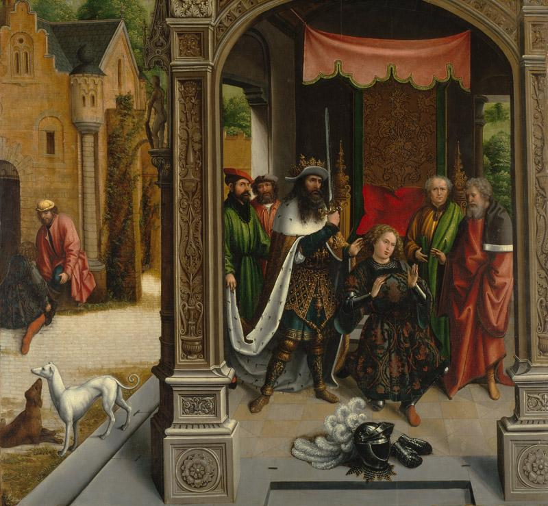 Bernard van Orley - The Knighting of Saint Martin by the Emperor Constantine, ca. 1514