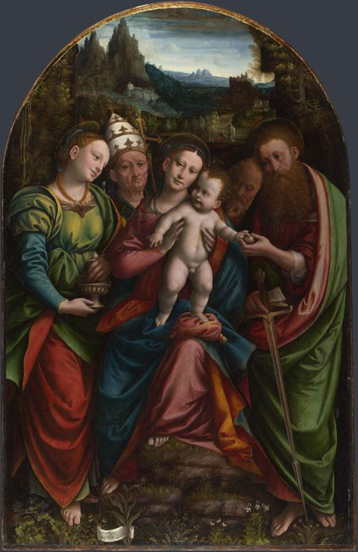 Bernardino Lanino - The Madonna and Child with Saints