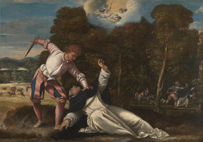 Bernardino da Asola - The Death of Saint Peter Martyr