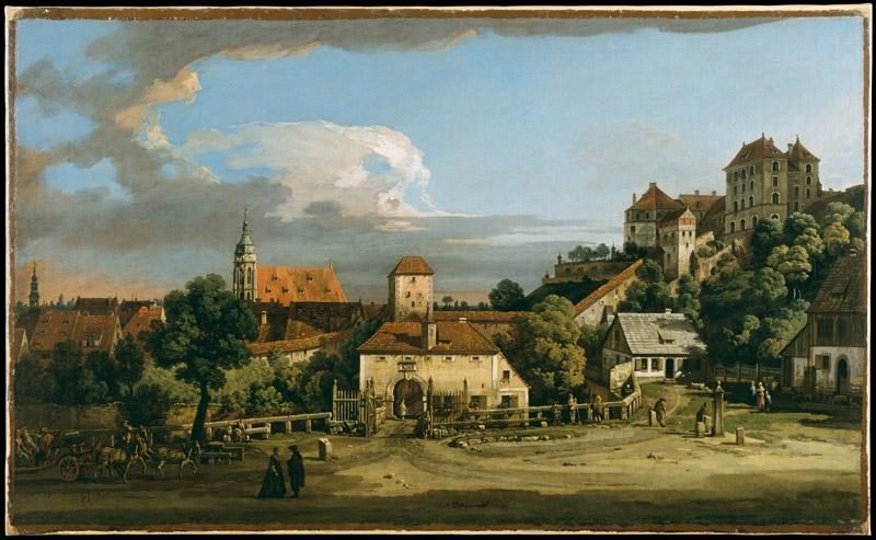 Bernardo Bellotto--Pirna The Obertor from the South