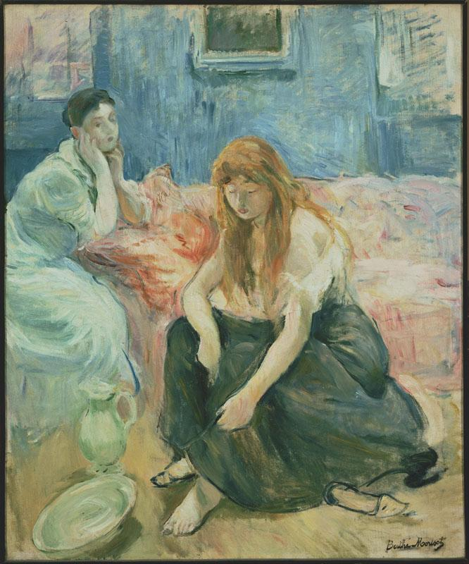 Berthe Morisot (1841-1895)-Two Girls