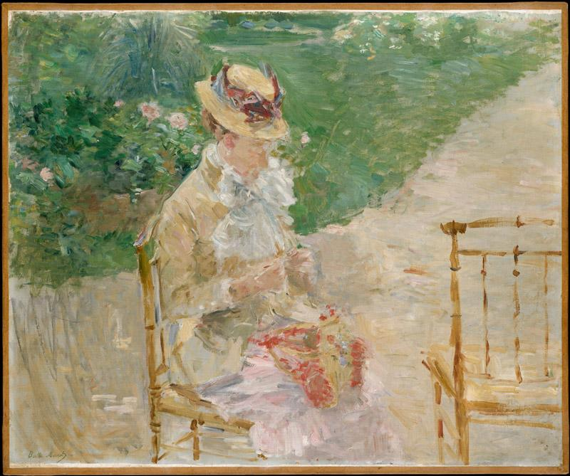 Berthe Morisot--Young Woman Knitting