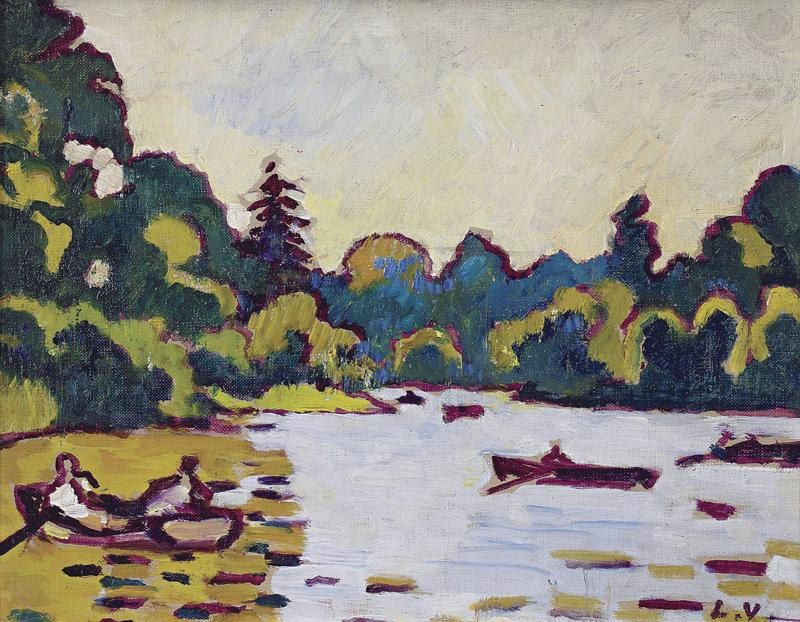 Boats on the Lake at Boulogne Forest, 1935