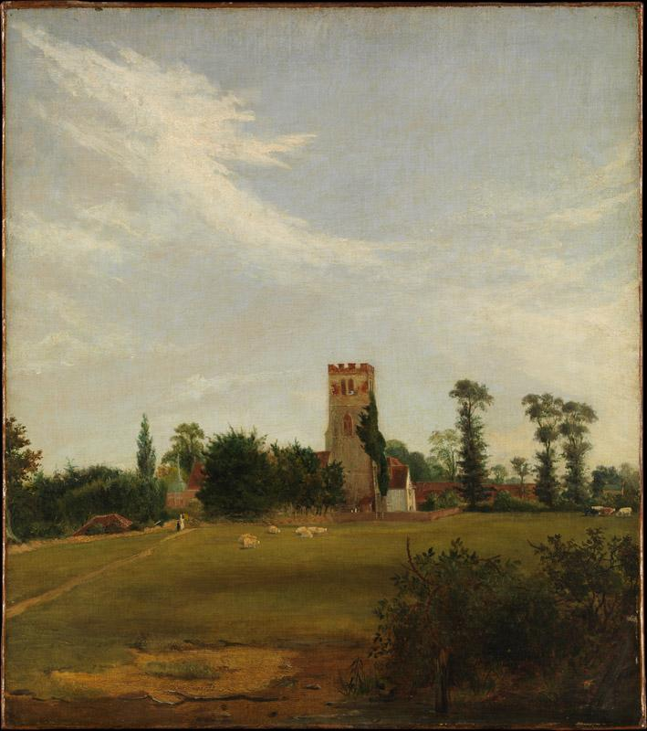 British Painter, ca. 1830--Tottenham Church