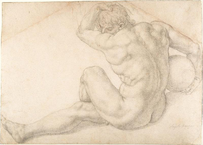 Bronzino--Seated Male Nude (Study for the Martyrdom of St