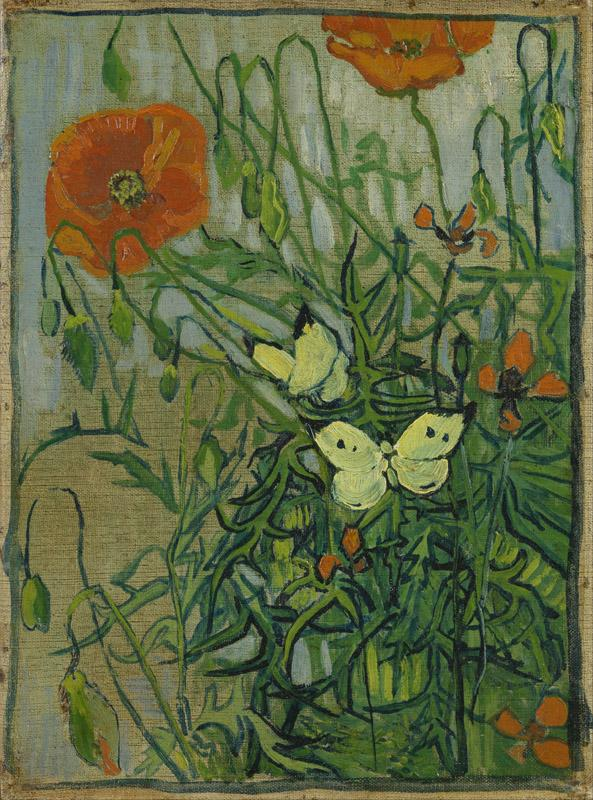 Butterflies and poppies (April 1890 - May 1890)