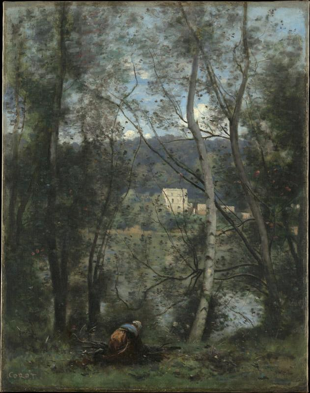 Camille Corot--A Woman Gathering Faggots at Ville-d Avray