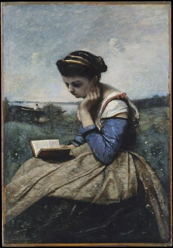 Camille Corot--A Woman Reading