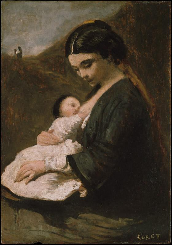 Camille Corot--Mother and Child