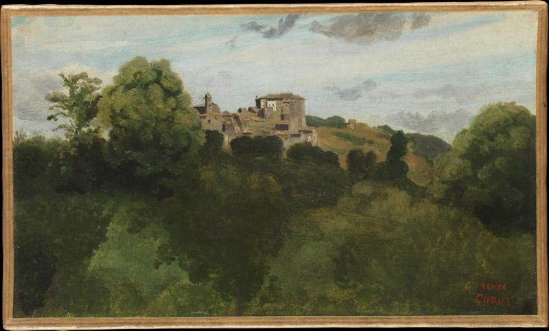 Camille Corot--View of Genzano