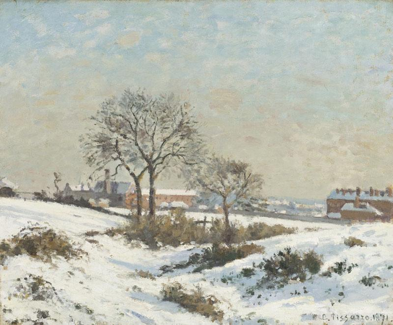 Camille Pissarro - Snowy Landscape at South Norwood