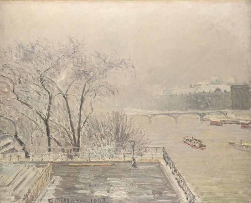 Camille Pissarro - The Louvre under Snow