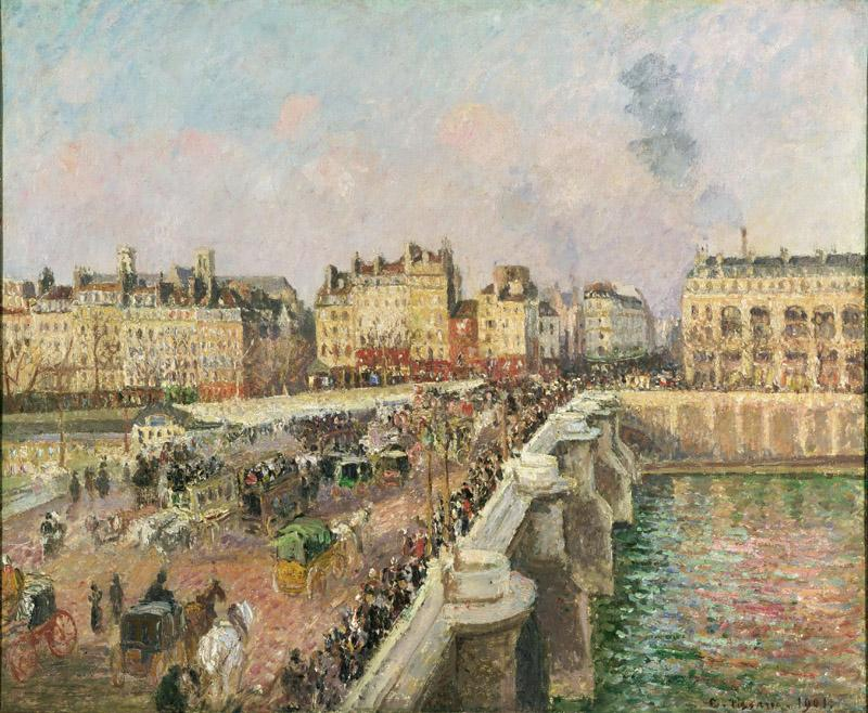 Camille Pissarro, French, 1830-1903 -- Afternoon Sunshine, Pont Neuf