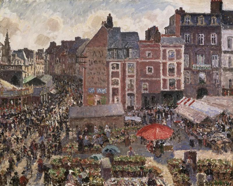 Camille Pissarro, French, 1830-1903 -- Fair on a Sunny Afternoon, Dieppe