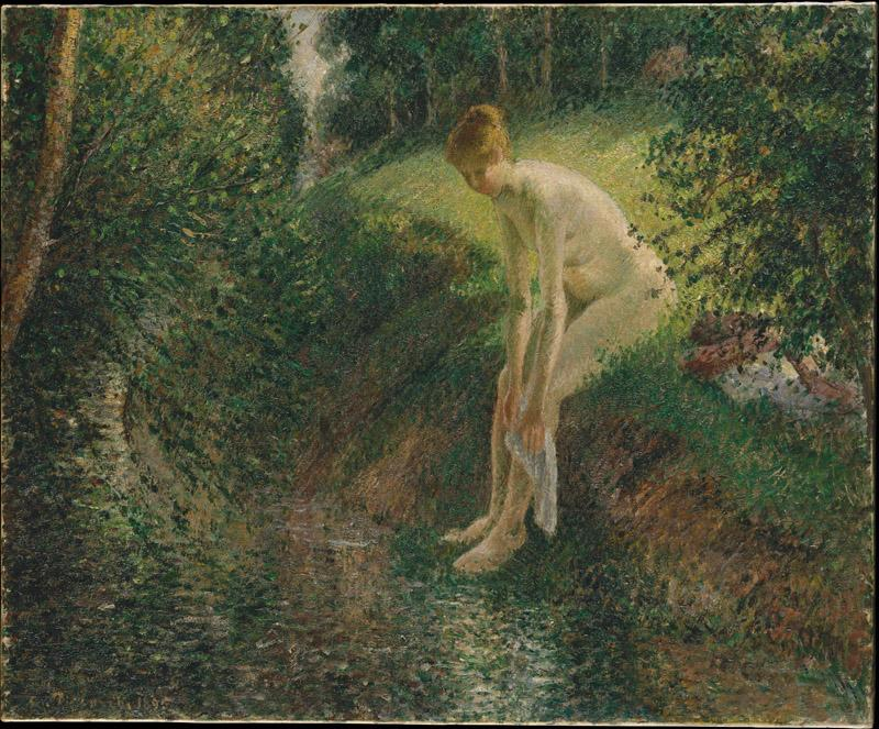 Camille Pissarro--Bather in the Woods