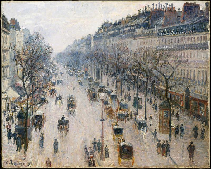Camille Pissarro--The Boulevard Montmartre on a Winter Morning