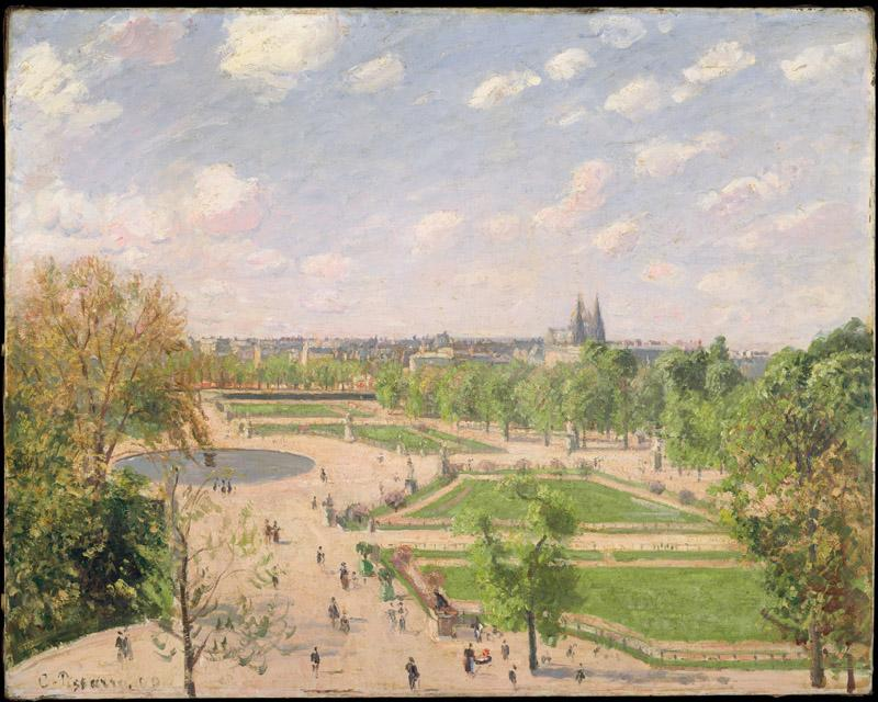 Camille Pissarro--The Garden of the Tuileries on a Spring Morning