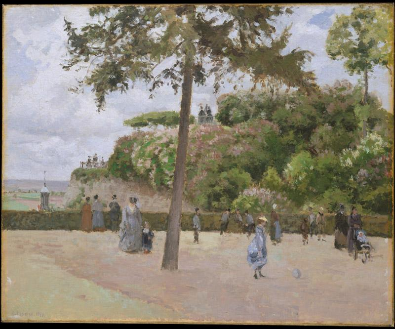 Camille Pissarro--The Public Garden at Pontoise