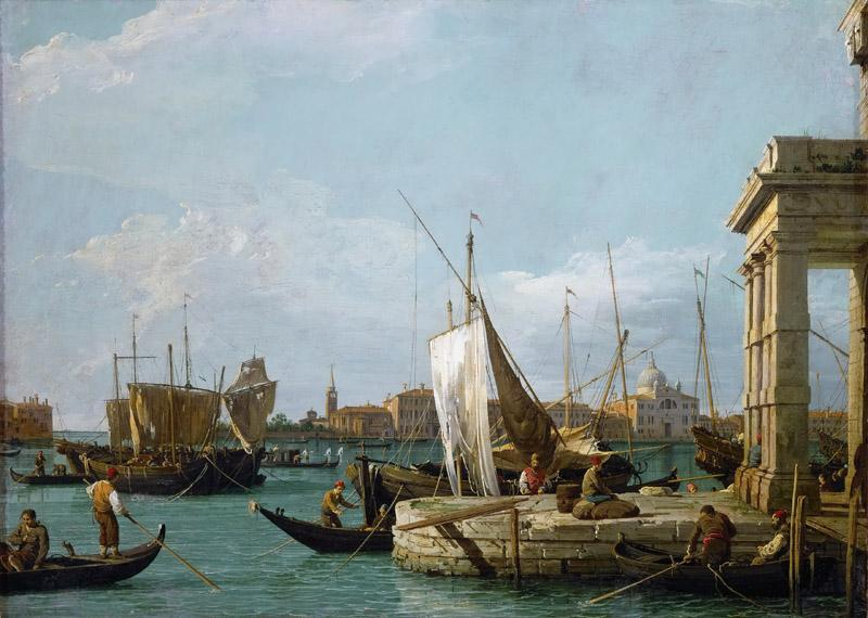 Canaletto (1697-1768) -- The Dogana in Venice