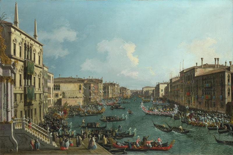 Canaletto - A Regatta on the Grand Canal