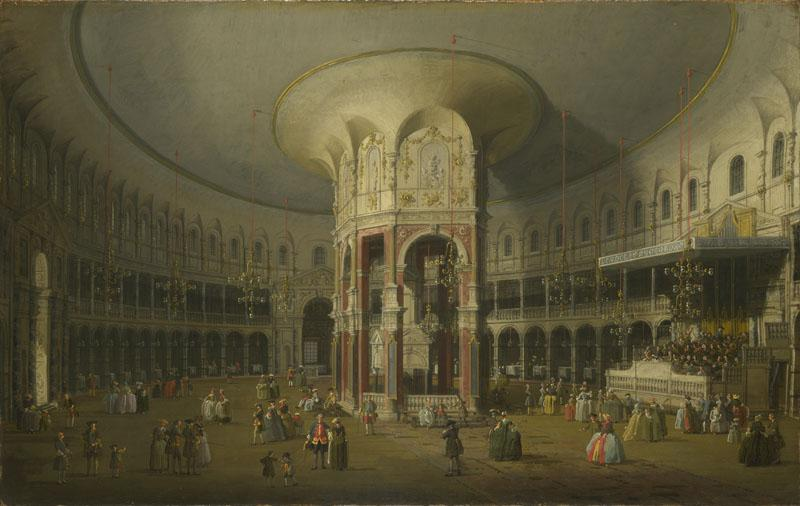 Canaletto - London - Interior of the Rotunda at Ranelagh
