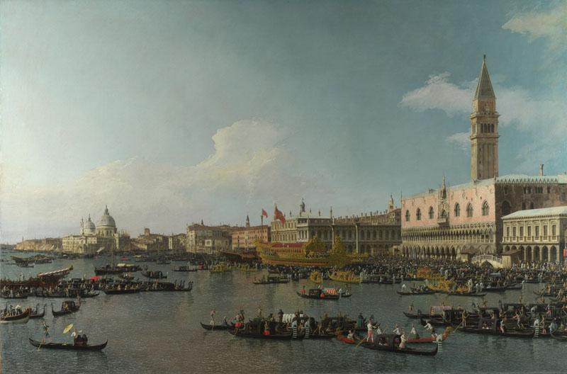 Canaletto - Venice - The Basin of San Marco on Ascension Day