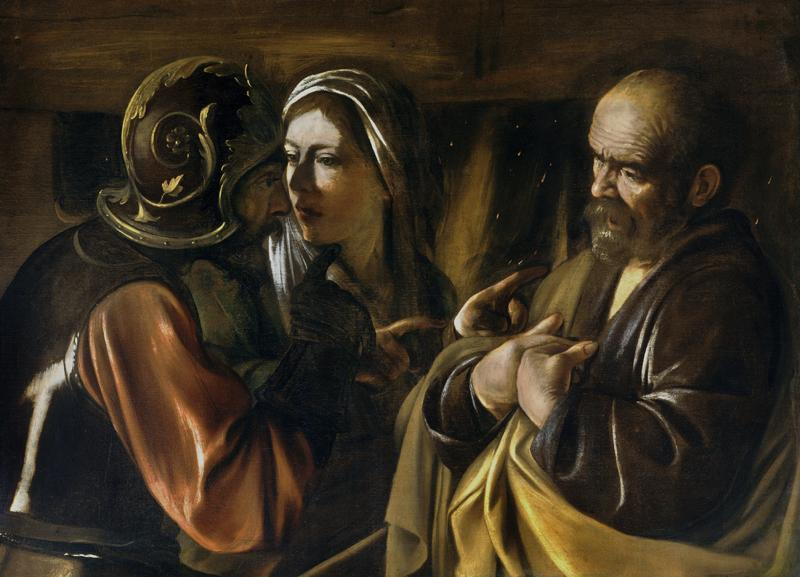 Caravaggio,The Denial of Saint Peter
