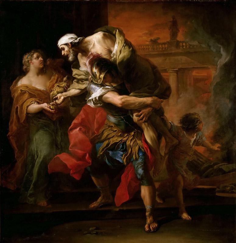 Carle van Loo -- Aeneas carrying Anchises