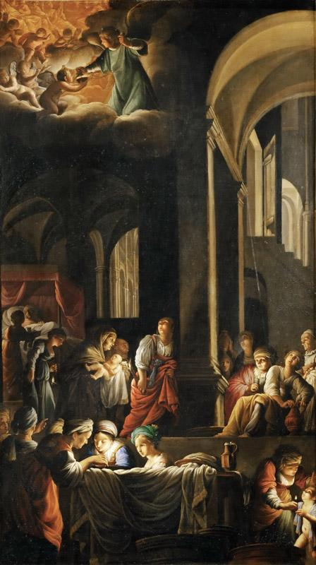 Carlo Saraceni(1579-1620)-Birth of the Virgin Mary