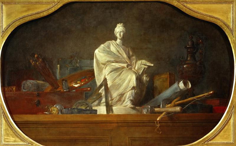 Chardin, Jean-Baptiste Simeon -- Les attributs des arts-the attributes of the arts