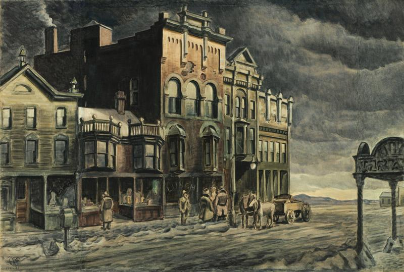 Charles Ephraim Burchfield - Edge of Town, 1921-1941